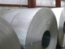 Bobinas del acero Imágenes de archivo libres de regalías
