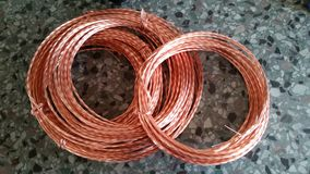 Bobinas del cobre Foto de archivo