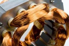 Bobinas del cobre del motor eléctrico Imagen de archivo libre de regalías