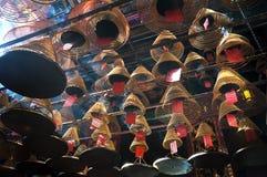 Bobinas del incienso en el hombre Mo Temple, Hong Kong Island Imagenes de archivo