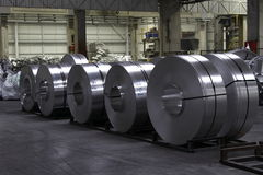 Bobinas do alumínio Imagem de Stock