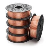 Bobinas dos fios de cobre ilustração stock