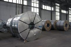 Bobinas Slitted armazenadas para a fabricação Imagem de Stock