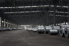 Bobinas Slitted armazenadas para a fabricação Foto de Stock Royalty Free