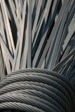 Bobinas y tiras del acero Fotografía de archivo libre de regalías