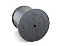 Bobine avec le câble d'isolement sur le fond blanc rendu 3d Photographie stock libre de droits