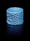 Bobine bleue de ficelle Images libres de droits