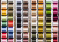 Bobine brillantemente colorate del filo Immagini Stock