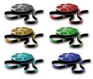 Bobine con nastro adesivo. Colori differenti. Fotografie Stock Libere da Diritti