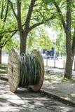 Bobine de câble électrique Photographie stock libre de droits