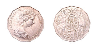 Bobine de cent du dollar 50 australien Image stock