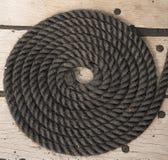 Bobine de corde de bateau de navigation Image stock