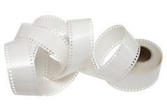 Bobine de film blanche sur un fond blanc Image libre de droits