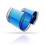 Bobine de film bleue Photos stock
