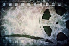 Bobine de film de cinéma avec la bande et les étoiles Image stock