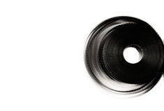 bobine de pellicule cinématographique de 35 millimètres d'isolement Photos stock