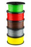 Bobine del filamento per la stampa 3d fotografia stock libera da diritti