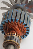 Bobine del rame dal motore elettrico immagini stock