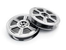 Bobine di film isolate su fondo bianco Immagini Stock