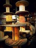 Bobine di legno Fotografia Stock