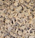 Bobine di legno del tessuto Fotografia Stock