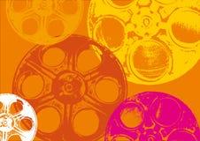 Bobine di pellicola arancioni Fotografie Stock Libere da Diritti