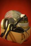 Bobine di pellicola in una casella Fotografie Stock