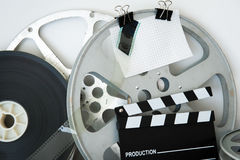 Bobine et clapet analogues de film de vintage Photographie stock libre de droits