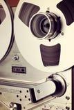 Bobine ouverte d'enregistreur de platine du dérouleur de bobine de stéréo analogue Images libres de droits
