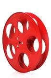 Bobine rouge vide de film Images stock