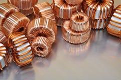 Bobines électriques d'en cuivre Images libres de droits