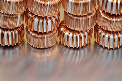 Bobines électriques d'en cuivre image libre de droits