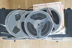 Bobines audio magnétiques de vintage photo stock