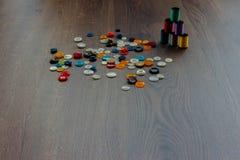 Bobines avec des fils de couleur Image stock