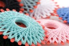 Bobines avec les amorçages colorés Image libre de droits