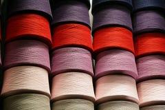 Bobines avec les amorçages colorés Photos libres de droits
