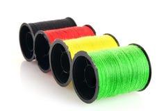 Bobines colorées d'amorçage d'isolement Photos libres de droits
