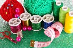 Bobines colorées des amorçages Photographie stock libre de droits