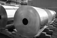 Bobines d'aluminium sllited photos libres de droits