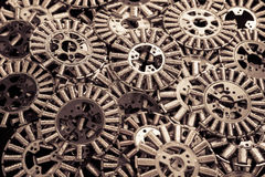 Bobines d'en cuivre, fond industriel Images libres de droits