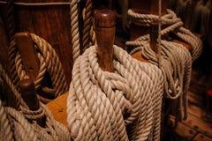 Bobines de corde et d'attirail Images libres de droits
