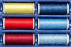 Bobines de couture Photographie stock libre de droits
