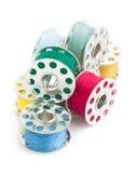 Bobines de couture de fil Photos stock