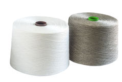 Bobines de fil de toile et en soie Images libres de droits