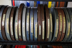 Bobines de film de cinéma Images stock