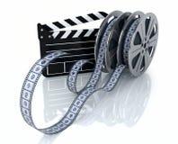 Bobines de film de cru et état de film Photographie stock libre de droits