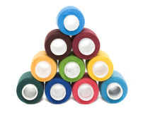 Bobines des amorçages de couleur Photographie stock libre de droits