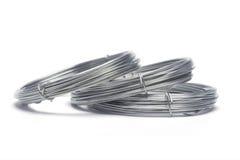 Bobines des fils galvanisés Image stock