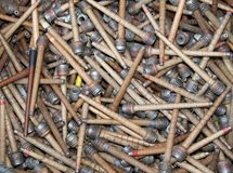Bobines en bois de textile. Photo libre de droits