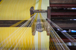 Bobines industrielles de coton pour le tissage Photos libres de droits